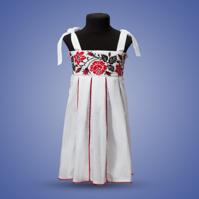 "Embroidered sleeveless dress for girl ""Rose"""