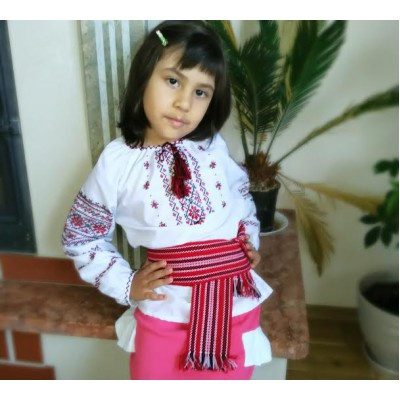 "Embroidered blouse for little girl ""Sweet&Charming"""