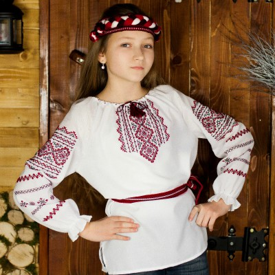 """Embroidered blouse for little girl """"Happy Childhood"""""""