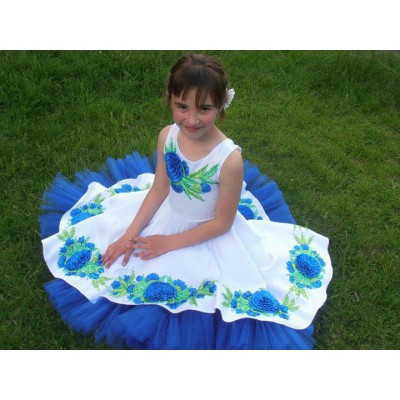 """Beads and Ribbons Embroidered Dress and Handbag for girl """"Dreamy"""""""