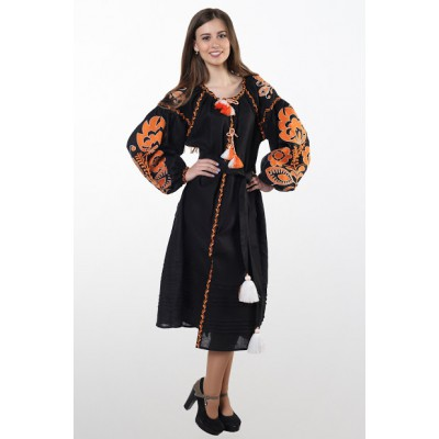 "Boho Style Ukrainian Embroidered Dress ""Glo"" 2"