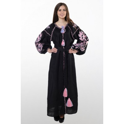 "Boho Style Ukrainian Embroidered Dress ""Glo"" 3"