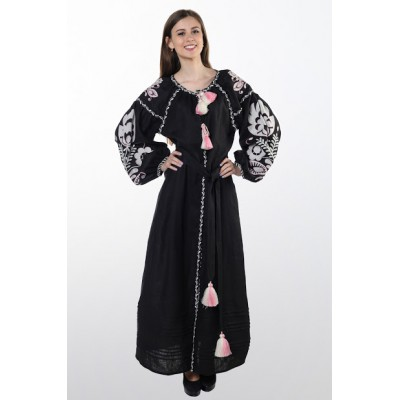"Boho Style Ukrainian Embroidered Dress ""Glo"" 4"