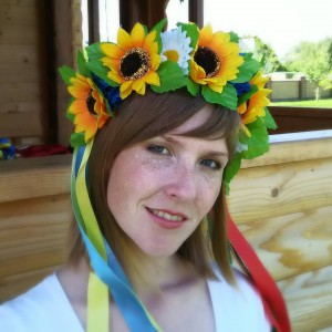 "Ukrainian Wreath ""Sunflower Field"""