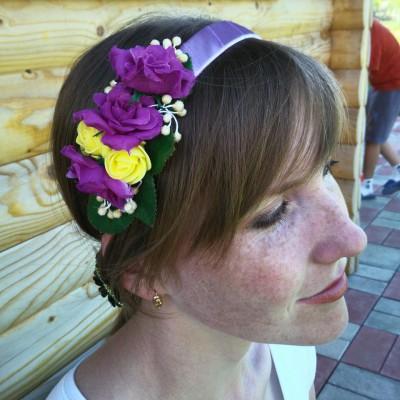 """Ukrainian Headdress """"Violet Dreams"""""""