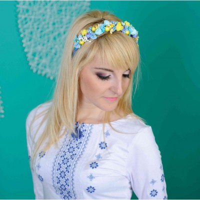 "Ukrainian Hair Band ""Berries Blue"""