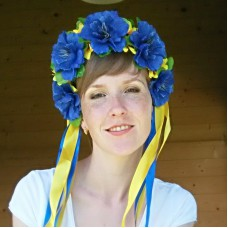 "Ukrainian Wreath ""Patriotic Cornflowers"""