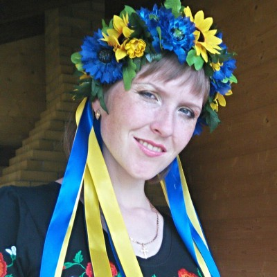 "Ukrainian Wreath ""Patriotic Maxi"""