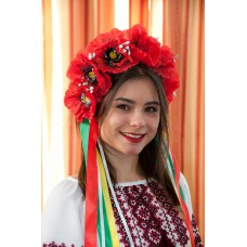 "Ukrainian Wreath ""Luxury Poppies"""