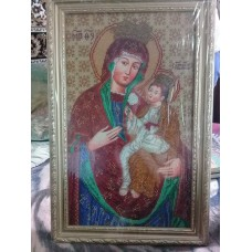 Liska Mother Mary Beads Embroidered Icon