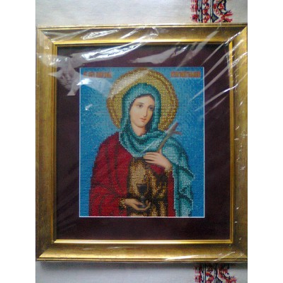 St. Anastasia Beads Embroidered Icon