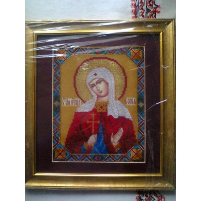 Martyr Sophia of Rome Beads Embroidered Icon