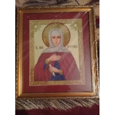 St. Anna the Prophetess Beads Embroidered Icon