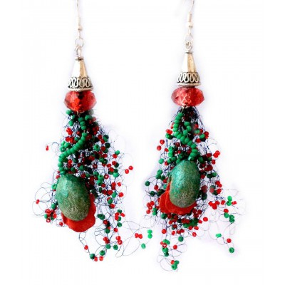 "Earrings ""Poppies Field"""