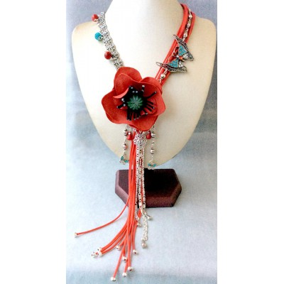 "Necklace ""Poppies on Grassland"""