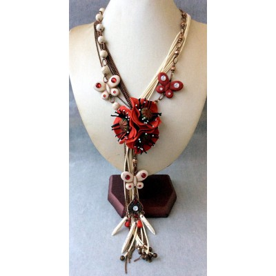 "Necklace ""Poppies Vintage"""