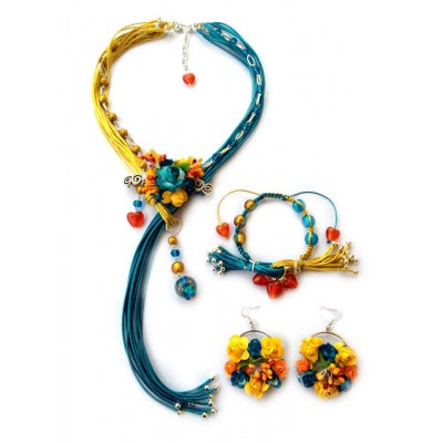 "Jewellery set ""With Ukraine in Heart"""