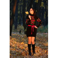 "Knitted tunic ""Rowan"" red"