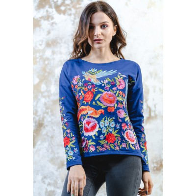 "Embroidered sweatshirt ""Fairy World"" Electric"