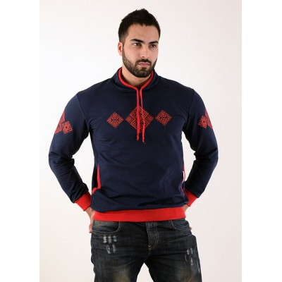 "Embroidered t-shirt for men ""Elbrus"" red"