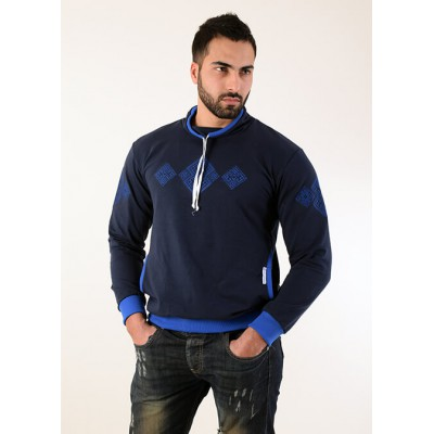 "Embroidered t-shirt for men ""Elbrus"" blue"
