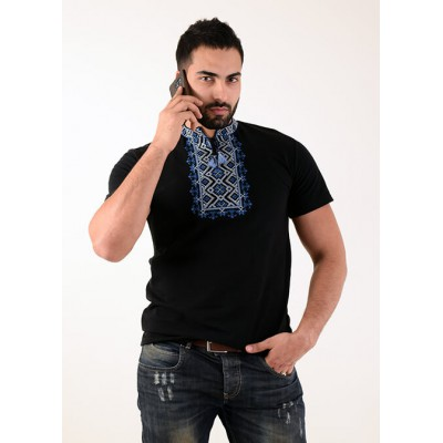 "Embroidered t-shirt for men ""Shooting Stars"" blue"