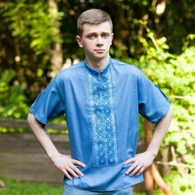 "Embroidered shirt ""Ukrainian Denim"""