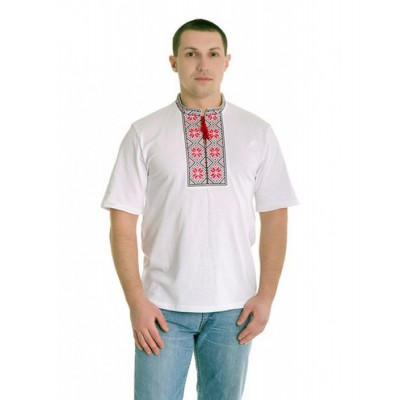 "Embroidered t-shirt ""Folk Red"""