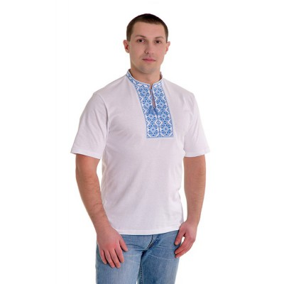 "Embroidered t-shirt for man ""Rhombus Blue"""