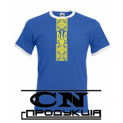 "Embroidered t-shirt for man ""Patriotic Blue"""