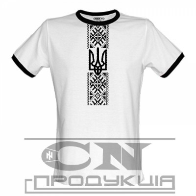 "Embroidered t-shirt for man ""Black&White"""