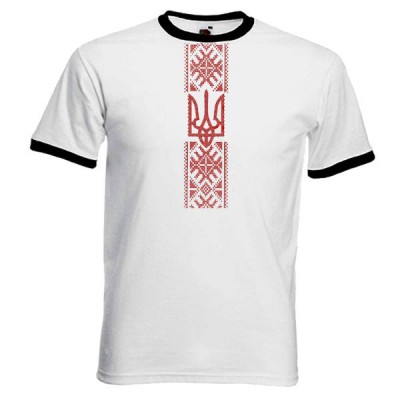 "Embroidered t-shirt for man ""Red Trident"""