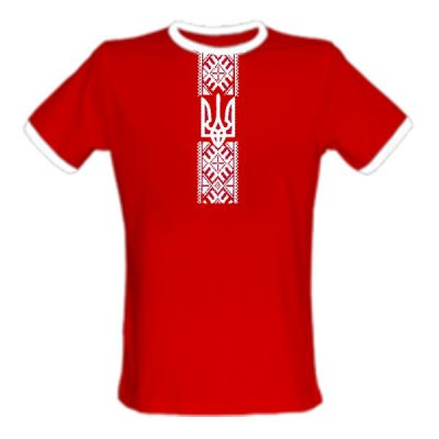 "Embroidered t-shirt for man ""Patriotic Red"""