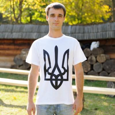 """Printed Patriotic Unisex T-shirt """"Trident Simple"""""""