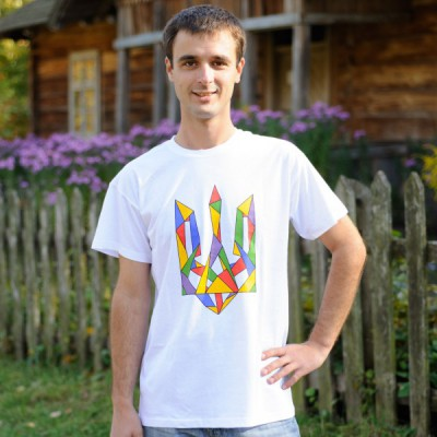 "Printed Patriotic Unisex T-shirt ""Trident Colourful"""