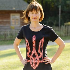 """Printed Patriotic Unisex T-shirt """"Trident Gentle"""""""