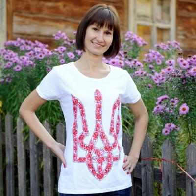 """Printed Patriotic Unisex T-shirt """"Trident Bright"""""""