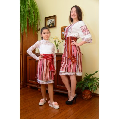 Traditional Woven Plakhta Mother and Daughter set 1