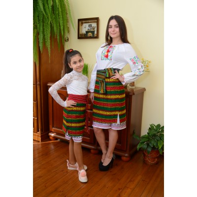 Traditional Woven Plakhta Mother and Daughter set 3