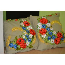 "Set of 2 Embroidered Pillow Covers ""Prosperity"""