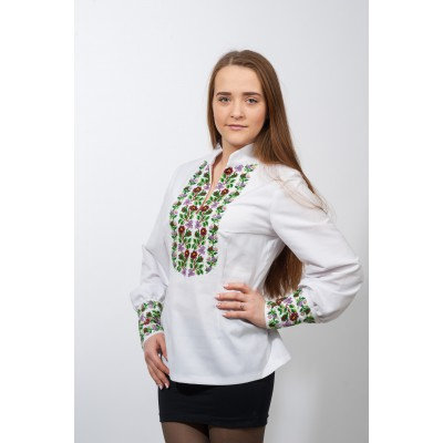 "Beads Embroidered blouse ""Beautiful Garden"""