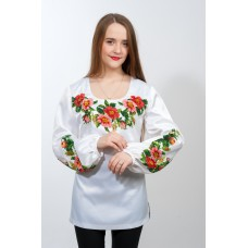 "Beads Embroidered blouse ""Coral Marvel"""