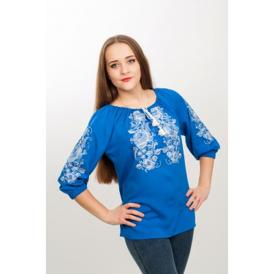 "Embroidered blouse ""Bonjour"""