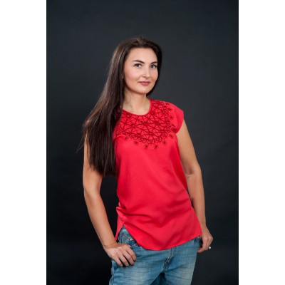 "Embroidered blouse ""Lace Red"""