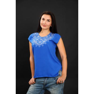 "Embroidered blouse ""Lace Blue"""