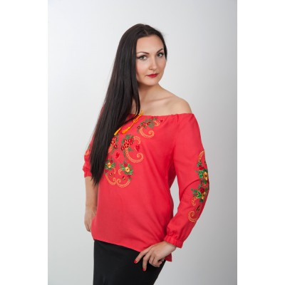 "Embroidered blouse ""Fiery """