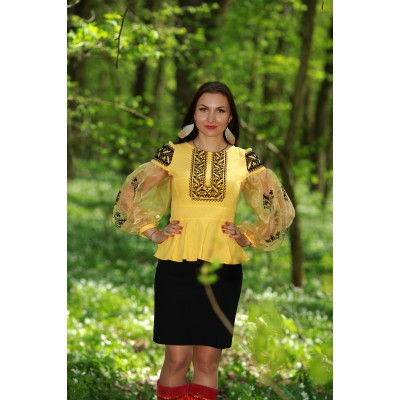 "Embroidered blouse ""Black&Yellow"""