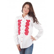 "Embroidered blouse-shirt ""Summer Blossom"""