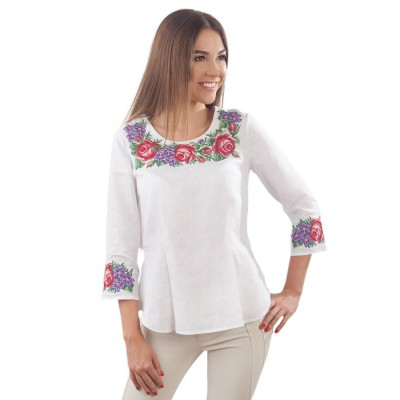 "Embroidered blouse ""Blooming Youth"" 2"
