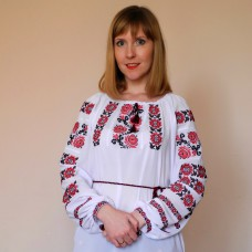 "Embroidered blouse ""Petrykivka Red"""